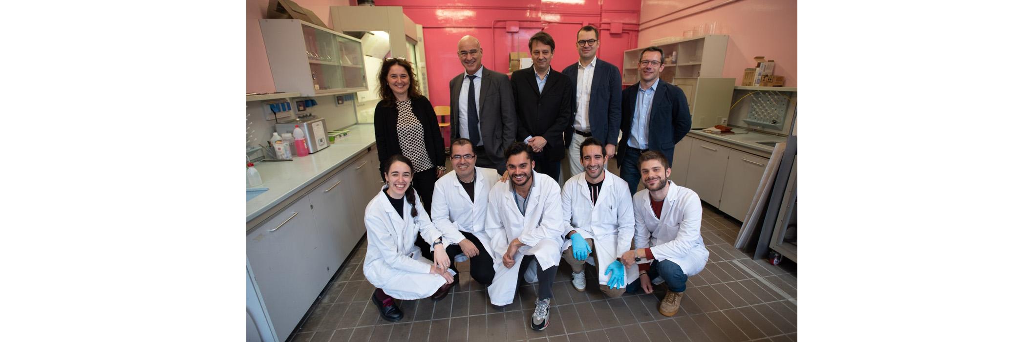 Il Rettore Ferruccio Resta in visita ai laboratori PoliLaPP